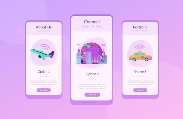 Modèle d'interface de l'application de la ville intelligente de l'internet mondial des objets