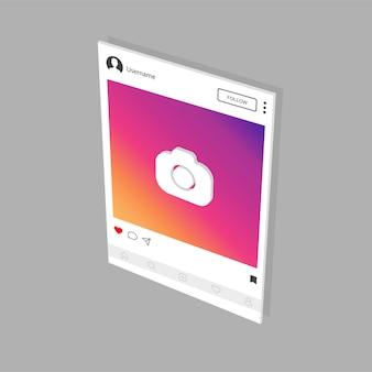 Modèle d'interface instagram pour application mobile.
