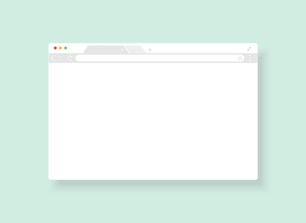 Modèle d'interface utilisateur du navigateur windows. fenêtre du navigateur web. illustration.
