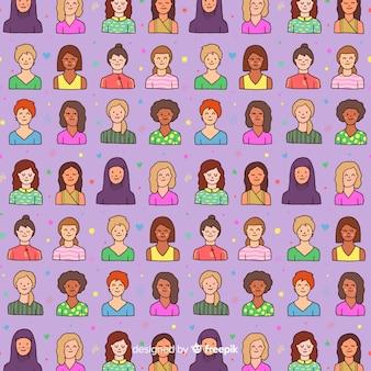 Modèle international de femmes