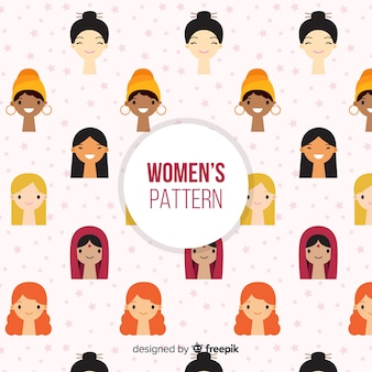 Modèle international moderne de femmes
