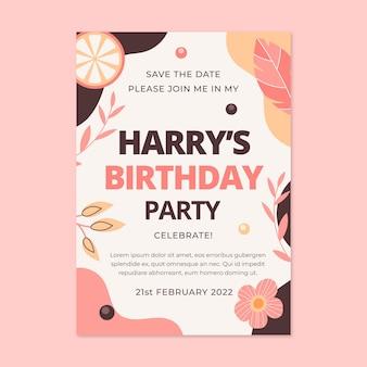 Modèle d'invitation d'anniversaire boho