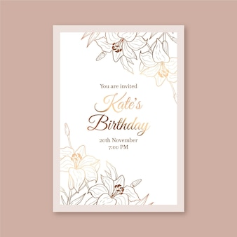 Modèle d'invitation d'anniversaire élégant
