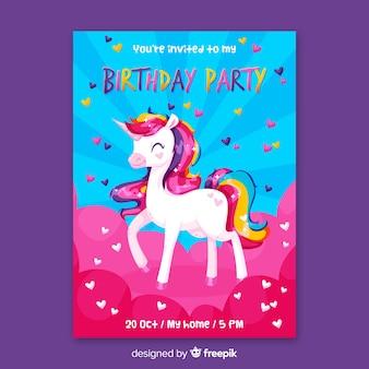 Modèle d'invitation anniversaire enfants