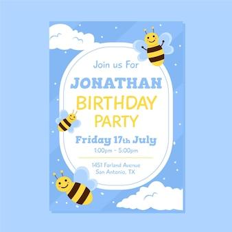 Modèle d'invitation d'anniversaire pour enfants