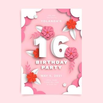 Modèle d'invitation d'anniversaire