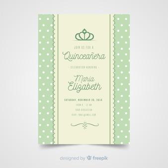 Modèle d'invitation de bar quinceanera