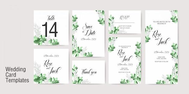 Modèle d'invitation de carte de mariage