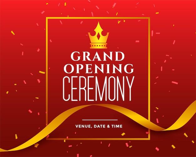 Modèle d'invitation à la cérémonie d'ouverture