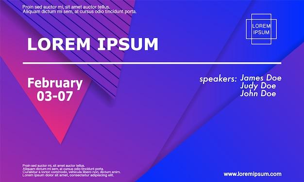 Modèle d'invitation à une conférence, mise en page de flyer. fond géométrique. illustration.