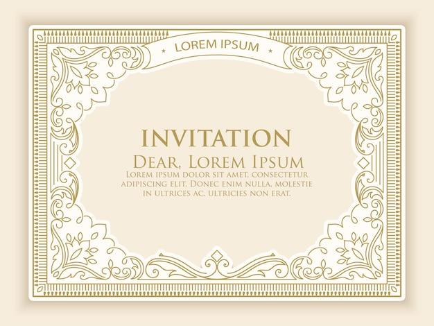 Modèle d'invitation avec une décoration vintage élégante