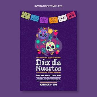 Modèle d'invitation dia de muertos dessiné à la main