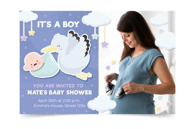 Modèle d'invitation de douche de bébé