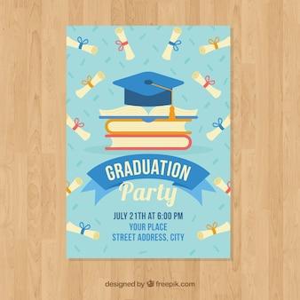 Modèle d'invitation élégant de graduation