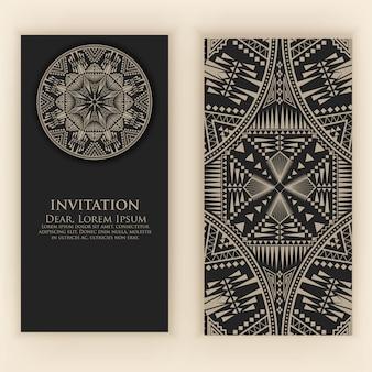 Modèle d'invitation avec des éléments décoratifs vintage