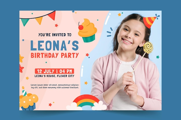 Modèle d'invitation de fête d'anniversaire