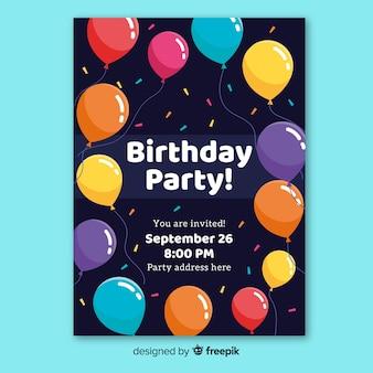 Modèle d'invitation fête joyeux anniversaire