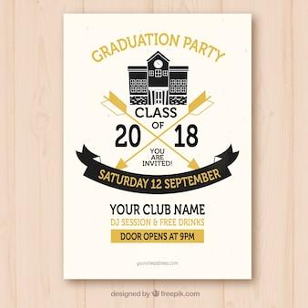 Modèle d'invitation fête d'obtention du diplôme