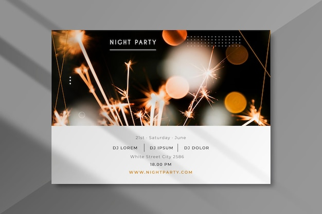 Modèle d'invitation à une fête avec photo