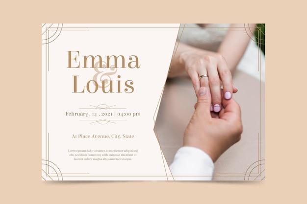 Modèle d'invitation de fiançailles avec photo