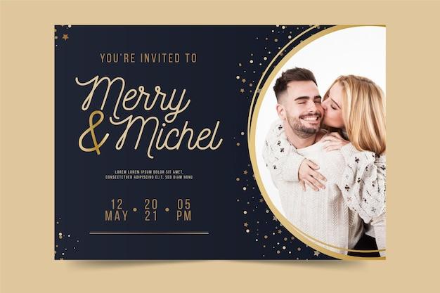 Modèle d'invitation de fiançailles