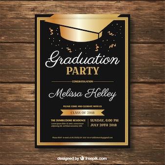 Modèle d'invitation de graduation
