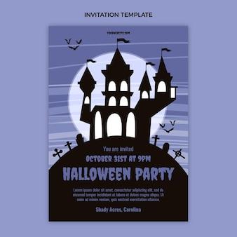 Modèle d'invitation halloween plat