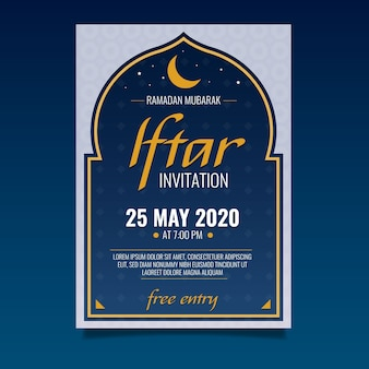 Modèle d'invitation iftar