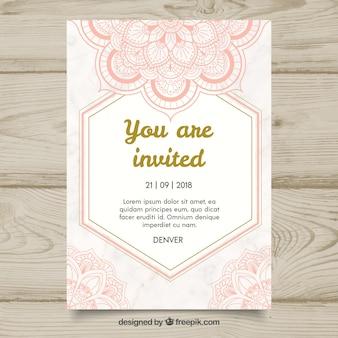 Modèle d'invitation mandala