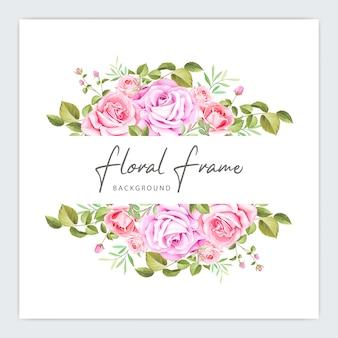 Modèle d'invitation mariage cadre floral