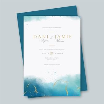 Modèle d'invitation de mariage créatif