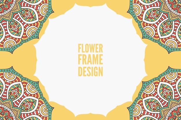 Modèle d'invitation de mariage avec design mandala