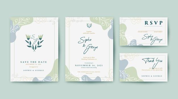 Modèle d'invitation de mariage élégant et beau