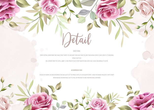 Modèle d'invitation de mariage élégant