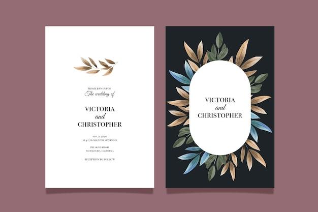 Modèle d'invitation de mariage floral minimaliste élégant