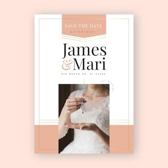 Modèle d'invitation de mariage avec la mariée