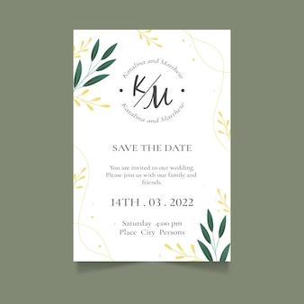 Modèle d'invitation de mariage minimaliste