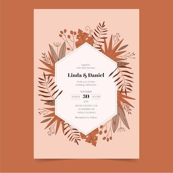 Modèle d'invitation de mariage de style bohème
