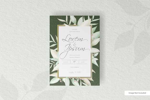 Modèle d'invitation de mariage de verdure