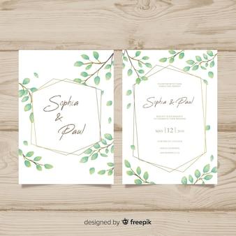 Modèle d'invitation de mariage
