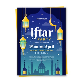 Modèle d'invitation pour iftar