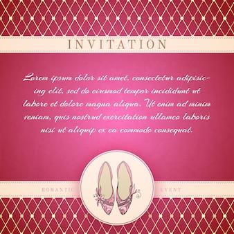 Modèle d'invitation princesse cendrillon