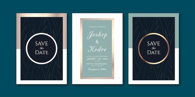 Modèle d'invitation sombre de luxe