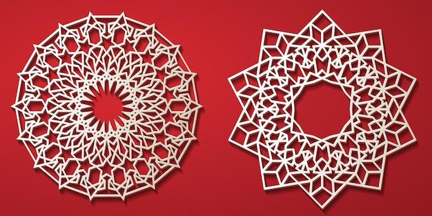 Modèle islamique arabe pour la conception décorative fond décoratif islamique salutation de ramadan