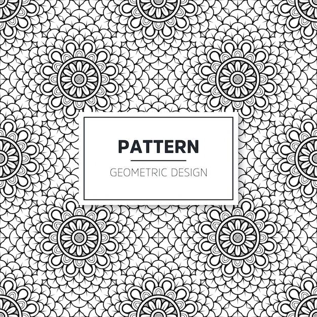 Modèle islamique de mandala sans soudure. éléments vintage