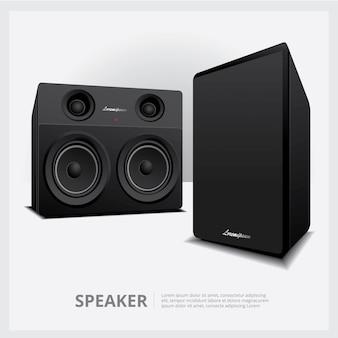 Modèle isolé de haut-parleurs forts