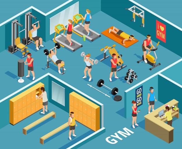Modèle isométrique de gym