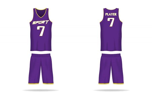 Modèle de jersey de panier de spécifications. t-shirt de sport col v uniforme. illustration