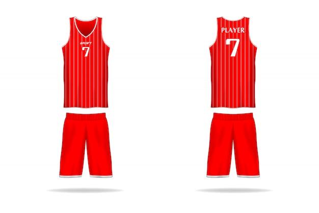 Modèle de jersey de spécification.
