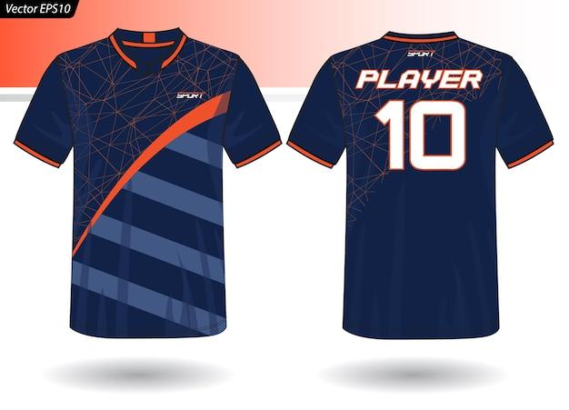 Modèle de jersey de sport pour les uniformes d'équipe